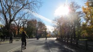 Heerlijk fietsen in Central Park.